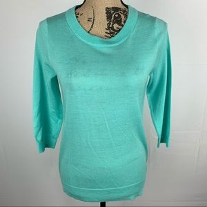 J. Crew Charley Tippi Sweater Merino Wool Blue